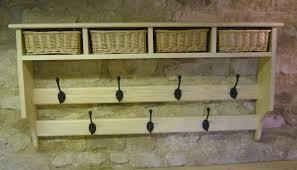 pine basket shelf