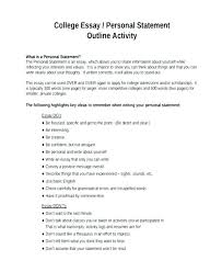 Personal Statement For College College Essay Examples Personal Statement Personal Statement College