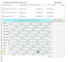 Employee Attendance Sheet In Excel For Office Daily Attendance Sheet Format Free In Excel List Template Record