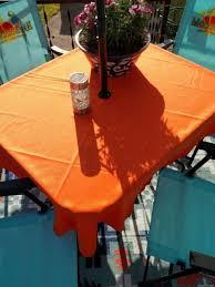 umbrella patio tablecloth 60 round easycare fabric polyester 74 colors