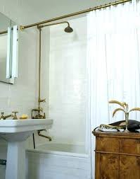 curved tension shower curtain rods antique brass shower curtain rail brackets rod moen curved tension shower