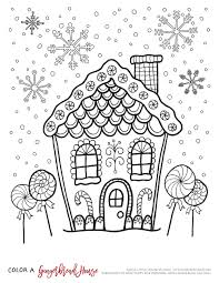 Small Picture Download Coloring Pages Gingerbread House Coloring Pages