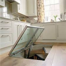 Wine Cellar In Kitchen Floor Man Builds Window In The Floor Of The Kitchen Leads To A Secret