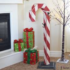 4x4 Wood Crafts Candy Cane Holiday Stocking Post Her Tool Belt