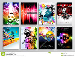 Party Templates Set Of Club Flyer Design Party Poster Templates Stock Vector