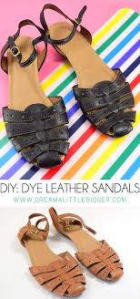 don t toss your favorite sandals dye them and make them like new all