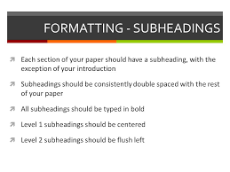 how to write an apa research paper apa style  formal research  4 formatting subheadings