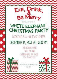 white elephant gift invitation. Unique Elephant White Elephant Ornament Exchange Christmas Party Invitation  Invitations To Gift E
