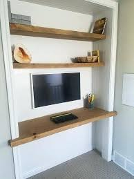 Floating shelf desk Office Desk Thick Wood Shelves Thick Floating Solid Wood Desk And Shelves Made From Beautiful Rough Cut Wood Or Add An Industrial Look By Using Pipe Supports Thick Freenumerologypredictionsinfo Thick Wood Shelves Thick Floating Solid Wood Desk And Shelves Made