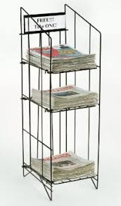 newspaper rack 1. Perfect Rack Get Quotations  Displays2go Newspaper Rack For Tabloid Size Publications  1214 X 43 Intended 1 2