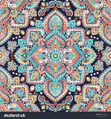 Indian floral paisley medallion pattern. Ethnic Mandala ornament. Vector  Henna tattoo style. Can