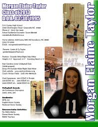 Morgan Recruiting Flyer Resume Sports Resumes Recruiting Flyers