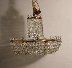 bling chandelier awesome a gilt brass basket style chandelier in chandeliers