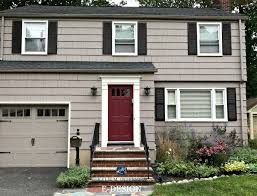 exterior paint colour palette with charcoal gray roof and stone benjamin moore weimaraner dinner