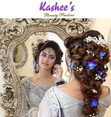 kashees beautiful bridal hairstyle bridal makeup