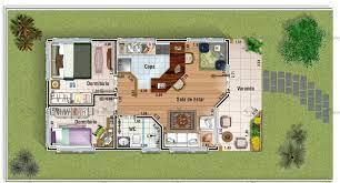 Os quartos foram posicionados ao fundo, sendo que os dois primeiros possuem um banheiro em comum. Planta De Casa Terrea Com 2 Quartos Cod 89 Pag 8 So Projetos