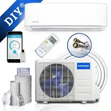 18k btu 16 seer mrcool diy ductless heat pump split system with wifi smart kit