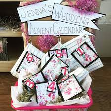 You can give it to the bride or the groom! Wedding Advent Calendar For Bride