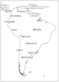 Blank Map Maps Of The Us And Other Countries South America Capitals