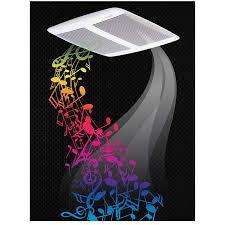 sensonic speaker fan 110 cfm 1 0 sones with bluetooth wireless technology