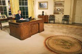 oval office rug. Bush With The Rug. \ Oval Office Rug E