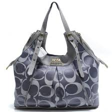 Coach In Monogram Medium Grey Satchels BXP