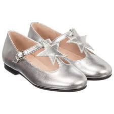 il gufo girls silver leather shoes childrensalon