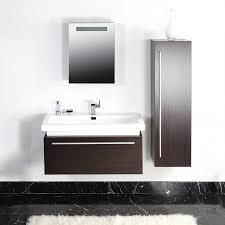 Badezimmer Badmöbel Set 3tlg Wenge Waschbecken Spiegelschrank Schrank