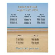 Beach Wedding Seating Chart 5 Table Beach Wedding Seating Chart