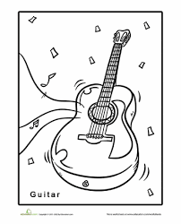 1cd658df916bcf323fba186790968663 guitar coloring page camps, coloring pages and coloring on music literacy worksheets