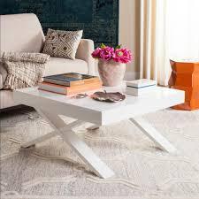 safavieh harrison mid century scandinavian white coffee table