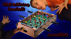 Miniature Wooden Foosball Table Game Mini Tabletop Foosball Setup Game YouTube 100