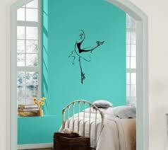 ballerina pose ballet shoes wall decor mural vinyl decal art sticker m628