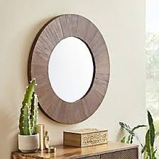 Anya Round <b>Wall Mirror 70cm</b> Brown | Dunelm
