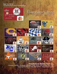 first national bank check cards can be ordered with paring mascots