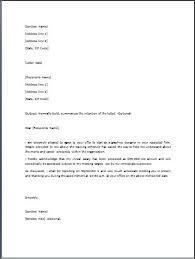 sample job offer letter template