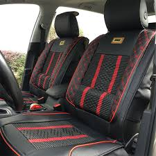 car seat cover black with red design