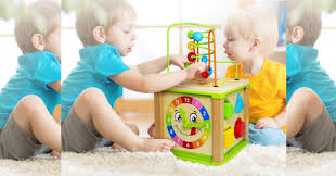 activity cube toy for baby educational wooden bead maze 18 99 reg 49 99