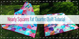 Nearly Squares Quilt Nearly Squares Fat Quarter Quilt Tutorial ... & Nearly Squares Quilt Nearly Squares Fat Quarter Quilt Tutorial Easy Fat  Quarter Baby Quilt Patterns Fat Adamdwight.com