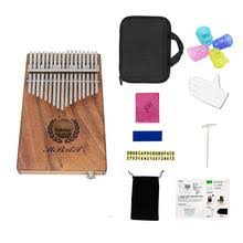 portable 17 key kalimba thumb piano mbira hawaiian koa wood built in pickup eq with 6 35mm speaker interface al gift