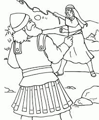 David And Goliath Coloring Sheet Ra3m David And Goliath Coloring