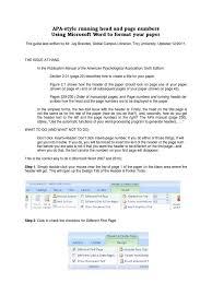 Apa Head Page Number Apa Style Computing