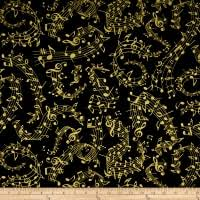 Music Quilt Fabric - Fabric.com & Timeless Treasures Metallic Instrumental Music Notes Black Adamdwight.com