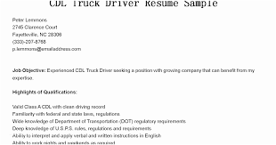 Cdl Owner Operator Sample Resume Magnificent Truck Driver Qualifications For Resume Driver Resumes Cdl Truck