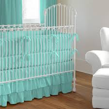 solid teal crib bedding