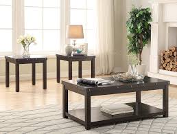 3 pc coffee end table set espresso with nail heads 4204 coffee end tables living room asia direct home s inc