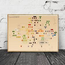 Us 7 4 Game Of Thrones Family Tree Chart Art Canvas Fabric Poster Prints Home Wall Decor Painting In Painting Calligraphy From Home Garden On