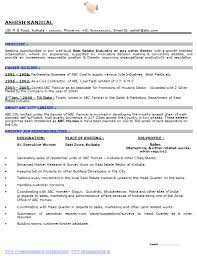 Professional Curriculum Vitae / Resume Template for All Job Seekers Sample  Template of a Experience BSC