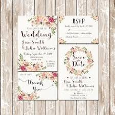 floral wedding invitations rectangle potrait cream flower pattern