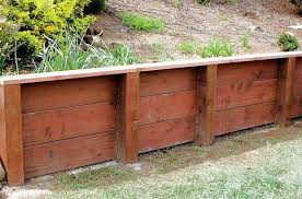 curved wood retaining wall face timber retaining
